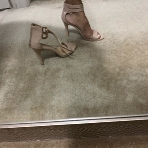 Candies Nude Ankle Strap Sandals size 8.5